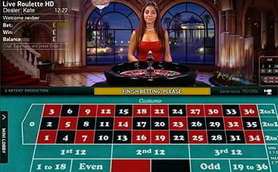 Live-Roulette-Spiel online