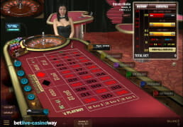 Screenshot des Live-Dealer-Roulette von Microgaming